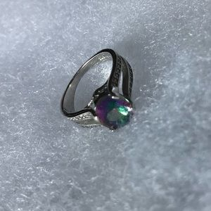 Jewelry - Mystic Topaz and CZ Sterling Silver Ring